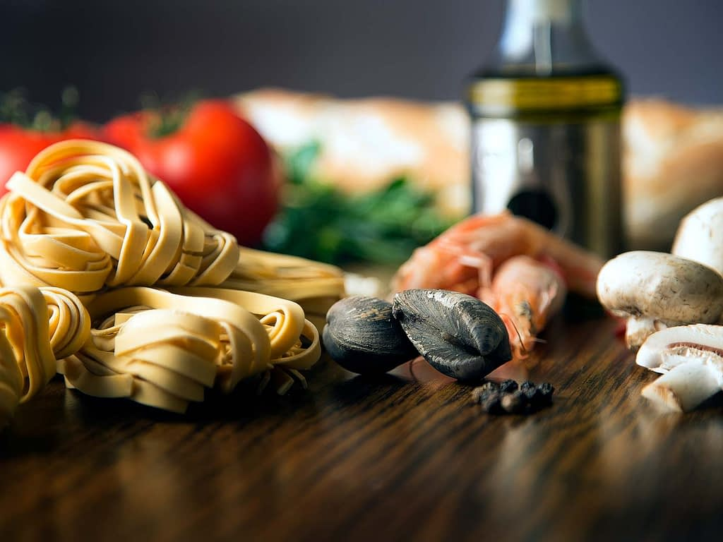 Pasta and clams